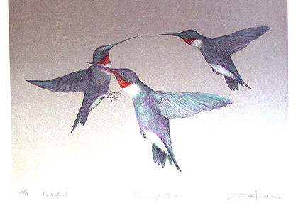 Three Hummingbirds