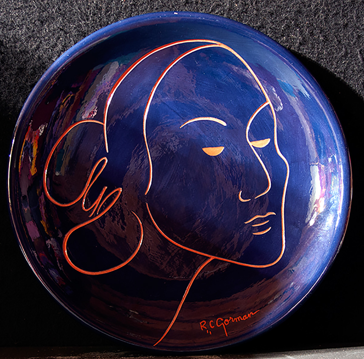 Michael mccormick gallery taos new mexico blanca ceramic plate dailygadgetfo Image collections