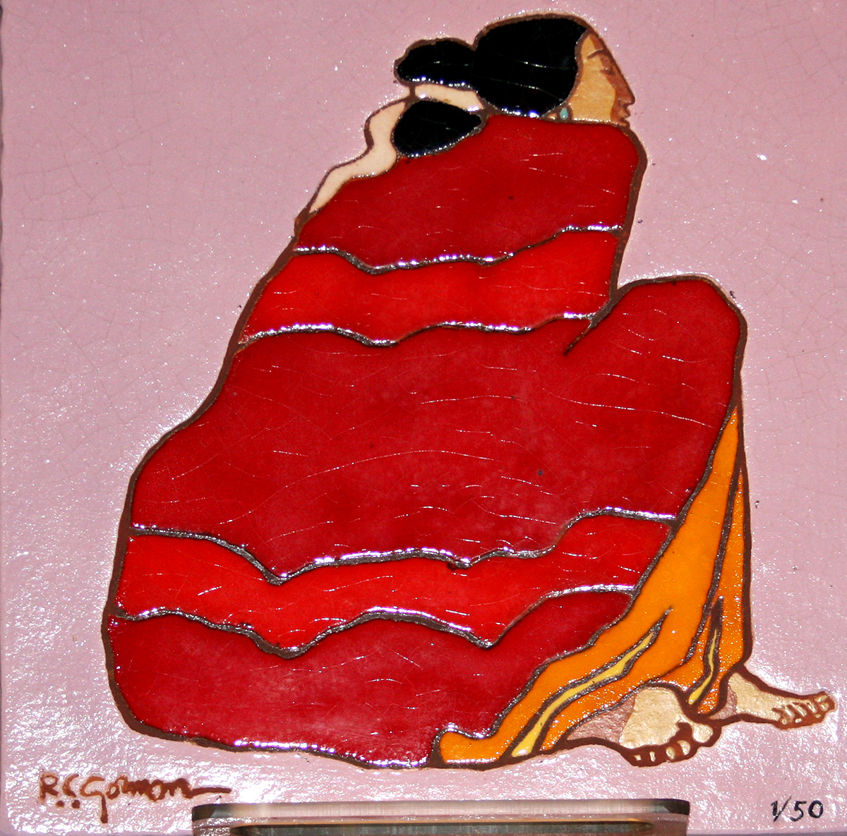 Michael mccormick gallery taos new mexico red blanket ceramic tile dailygadgetfo Image collections
