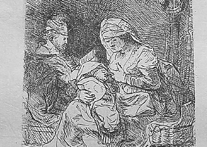 Sainte Familia ou la Vierge au linge