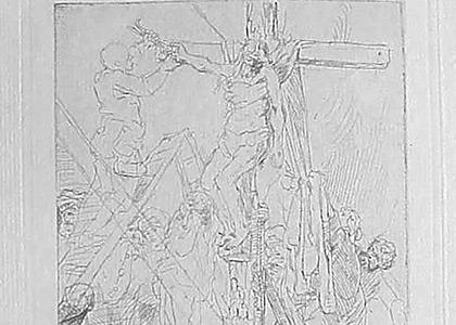 La Descente de Croix au trait