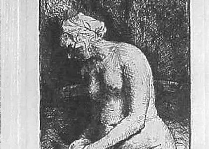 La Femme nue les Pieds dans Leau