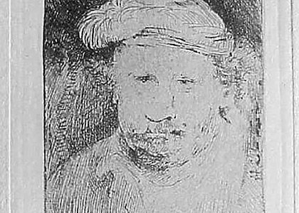 Rembrandt sur une Planche Longue et Etroite 1658